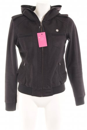 obey Outdoor Jacket black-anthracite abstract pattern athletic style