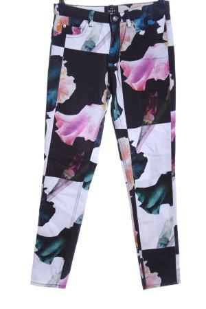 obey Drainpipe Trousers flower pattern casual look