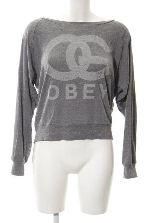 obey Crewneck Sweater grey-light grey flecked casual look