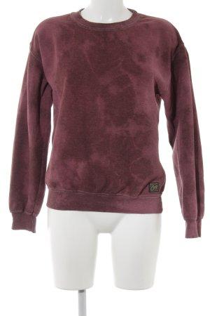 obey Crewneck Sweater carmine color gradient casual look