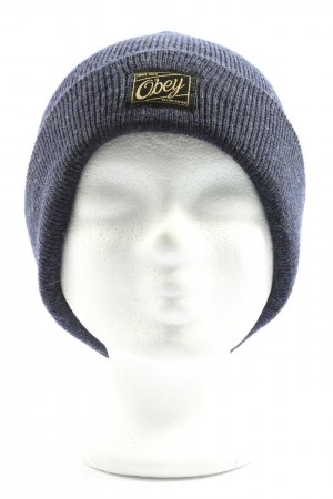 obey Strickmütze blau Casual-Look