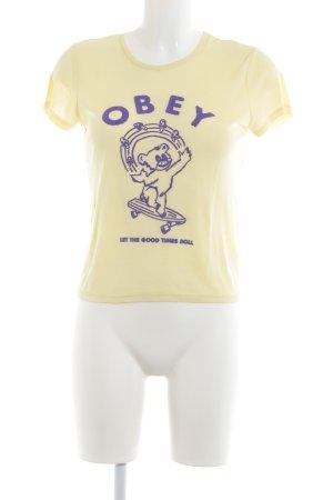 obey T-Shirt gelb sportlicher Stil