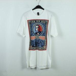 OBEY T-Shirt Gr. L weiß Print (20/04/003*)