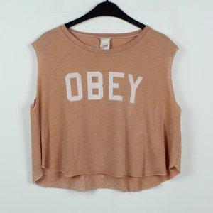 obey T-Shirt nude mixture fibre