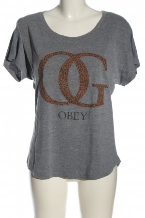 obey T-Shirt printed lettering casual look