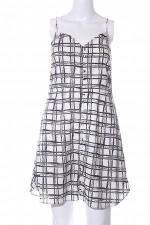 obey Pinafore dress natural white-black check pattern casual look
