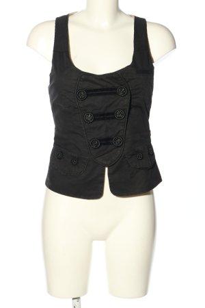 Object Kamizelka garniturowa czarny W stylu casual
