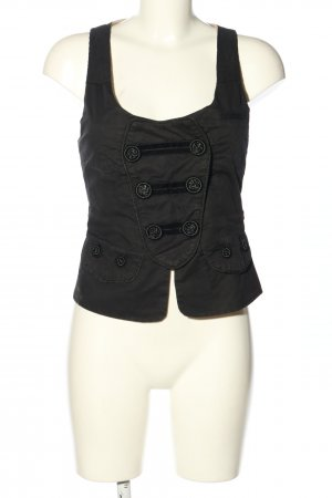 Object Chaleco de vestir negro look casual