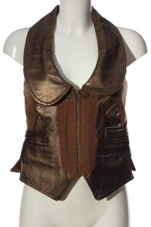 Object Biker Vest bronze-colored-brown casual look