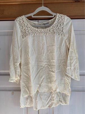Object Blusa in merletto crema-bianco