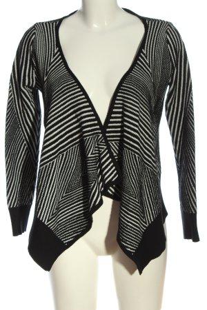 Object Cardigan schwarz-weiß Streifenmuster Casual-Look