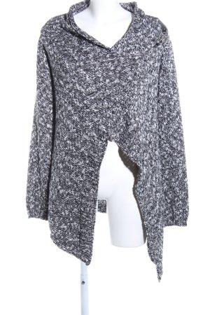 Object Cardigan schwarz-weiß meliert Casual-Look