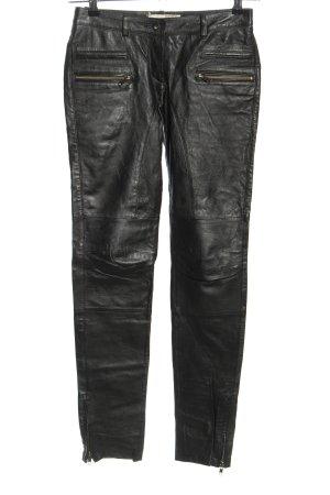 Object collectors item pantalón de cintura baja negro look efecto mojado