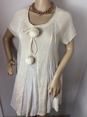 Object Robe en maille tricotées crème
