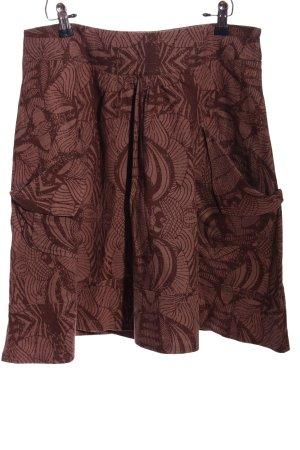 Object Rozkloszowana spódnica brązowy-w kolorze białej wełny W stylu casual