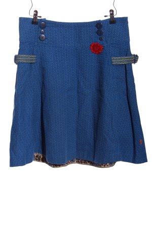 Object Rozkloszowana spódnica niebieski-biały Na całej powierzchni