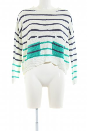 Object Grobstrickpullover Streifenmuster Casual-Look