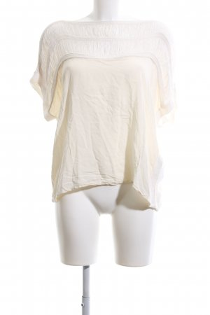 Object Crochet Shirt cream casual look