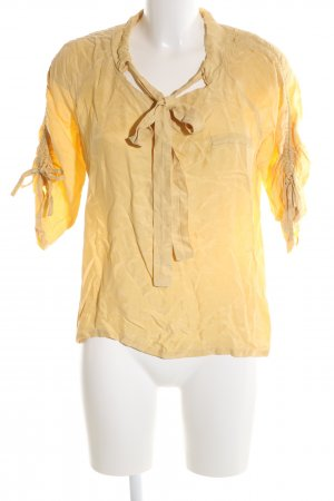 Object Hemd-Bluse blassgelb Casual-Look