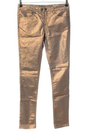 Object Pantalón de pinza alto color oro look casual