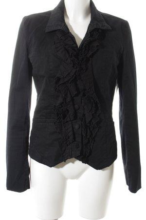 Object Spijkerblazer zwart elegant