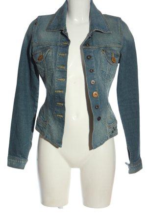 Object Veste en jean bleu style décontracté