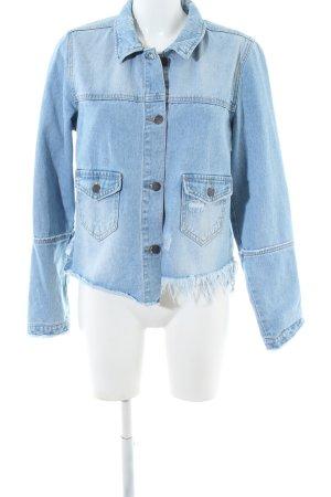 Object Jeansjacke blau Casual-Look