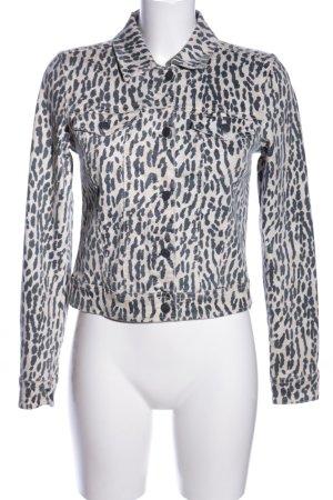 Object Veste en jean blanc cassé-gris clair imprimé allover