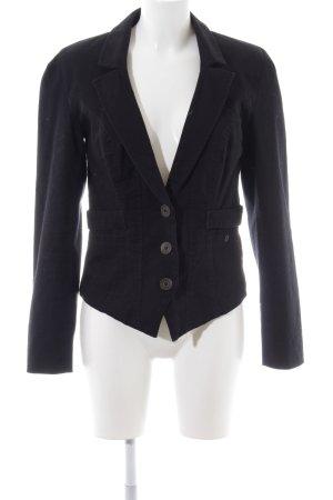Object Jersey blazer zwart zakelijke stijl