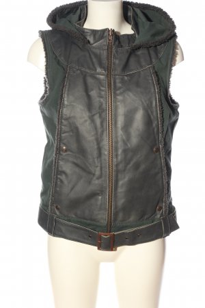 Object Hooded Vest light grey-khaki street-fashion look