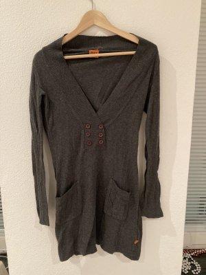 Object - Kleid aus Baumwolle in dunkelgrau