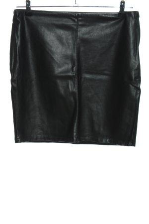 Object Kunstlederrock schwarz Casual-Look