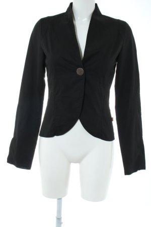Object Korte blazer zwart zakelijke stijl