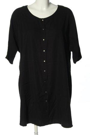 Object Kurzarm-Bluse schwarz Casual-Look