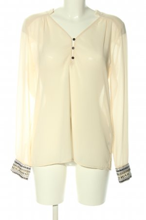 Object Langarm-Bluse creme Business-Look