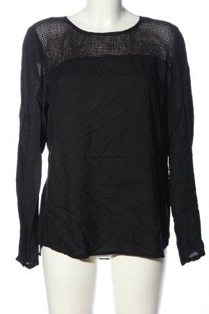 Object Langarm-Bluse schwarz Casual-Look