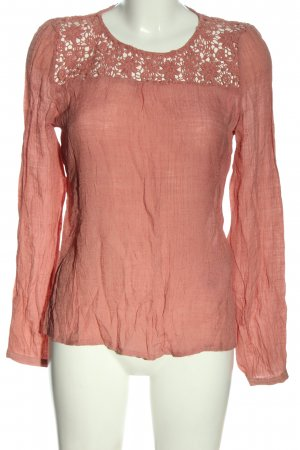 Object Langarm-Bluse rot Casual-Look