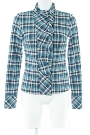 Object Langarm-Bluse Karomuster Casual-Look
