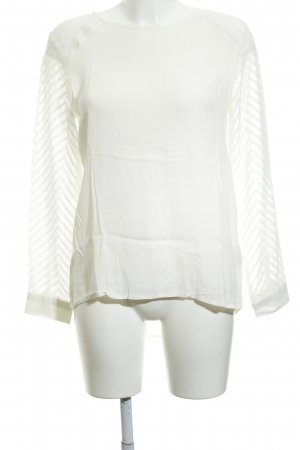 Object Langarm-Bluse wollweiß Casual-Look