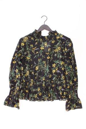Object Langarmbluse Größe 40 mit Blumenmuster schwarz aus Polyester