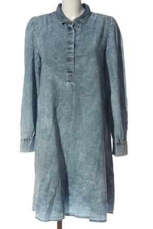 Object Vestido de manga larga azul look casual