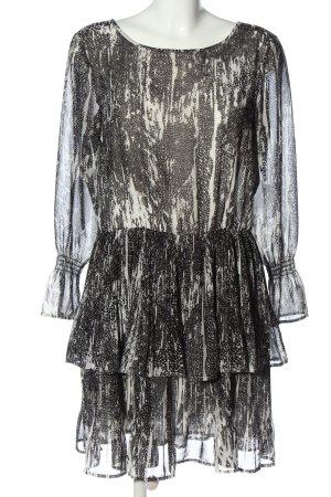 Object Sukienka z długim rękawem czarny-w kolorze białej wełny