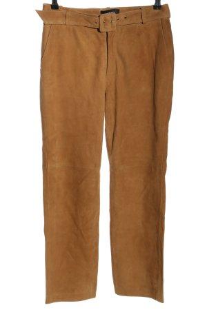 Object Pantalon en cuir brun style décontracté
