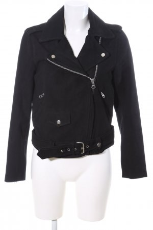 Object Lederjacke schwarz Casual-Look