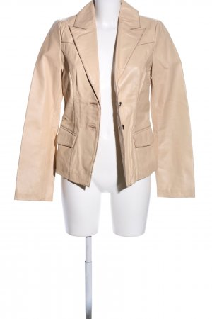 Object Giacca in pelle crema stile casual