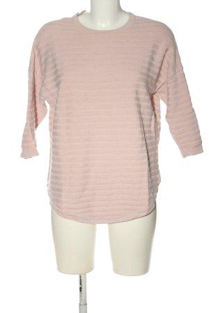 Object Koszulka z długim rękawem różowy Wzór w paski W stylu casual