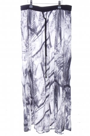 Object Maxi rok wit-blauw abstract patroon casual uitstraling