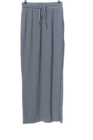 Object Falda larga negro-blanco estampado a rayas look casual