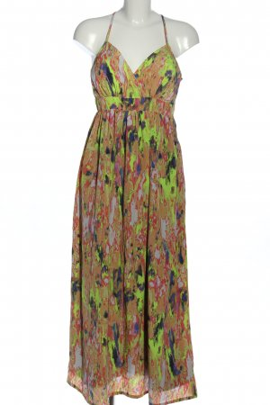 Object Robe mi-longue motif abstrait style décontracté