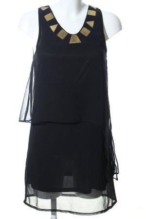 Object Minikleid schwarz-goldfarben Elegant